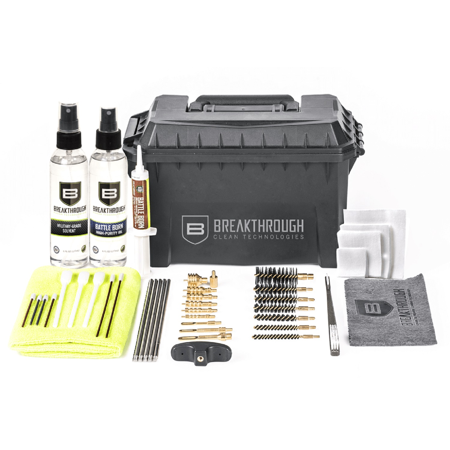 Breakthrough Universal Ammo Can Clean Kit .22 cal thru 12 ga
