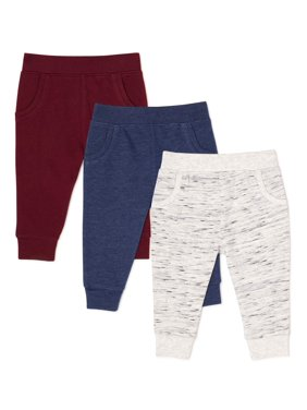 Garanimals Baby Boy French Terry Joggers, 3-Pack