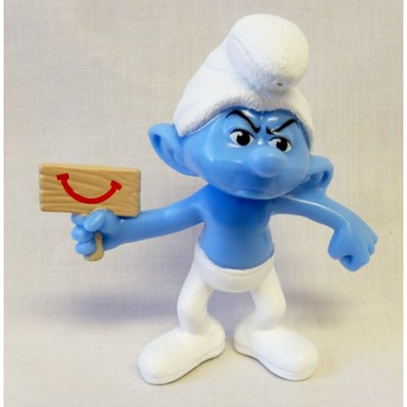 McDonalds - The Smurfs 2 2013 Happy Meal Toy - Grouchy #62013 Smurfs 2 Movie Toy By Happy Meal Toys (Flintstones Mcdonalds Toys)