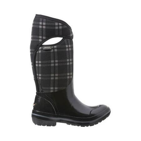 Bogs Boots Womens Plimsoll Plaid Tall Max-Wix Waterproof 71785 (Women Bog Boots)