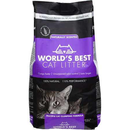World's Best Cat Litter, Clumping Litter Multi-Cat Lavender Scent, 7 Lb