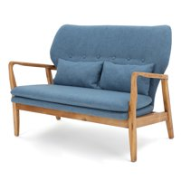 Ellule Fabric Loveseat, Blue