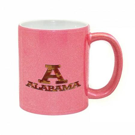 (KuzmarK Pink Sparkle Coffee Cup Mug 11 Ounce - Alabama Red Camouflage)