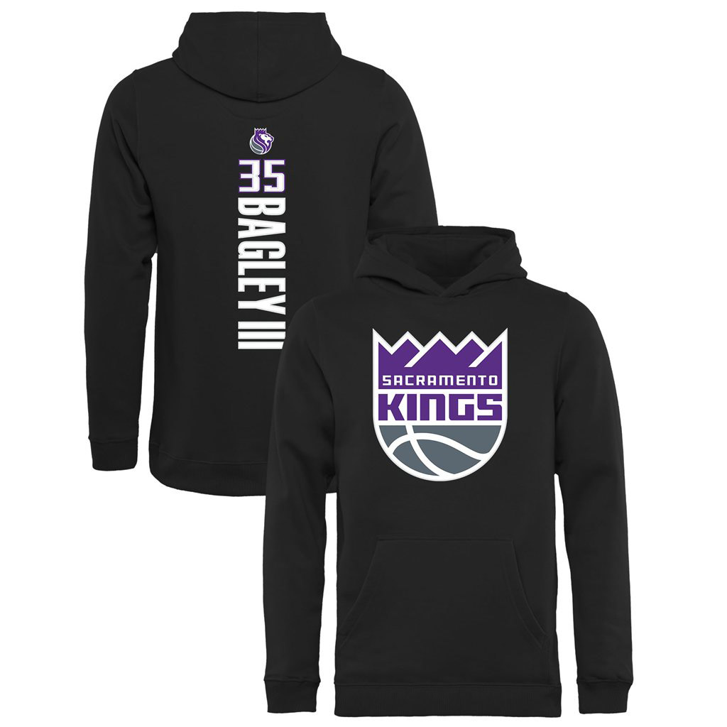 Marvin Bagley III Sacramento Kings Fanatics Branded Youth Team Backer Name & Number Pullover Hoodie - Black