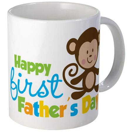 CafePress - Boy Monkey Happy 1St Fathers Day Mug - Unique Coffee Mug, Coffee Cup CafePress (1st Coffee Mug)