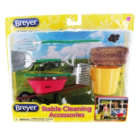 Breyer Classics Stable Cleaning Accessories (Breyer Classics 3 Horse Stable Play Set)
