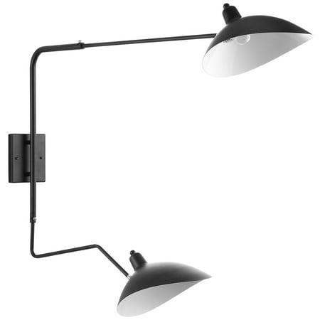 Modern Urban Contemporary Wall Lamp, Black Steel Contemporary Wall Lamp