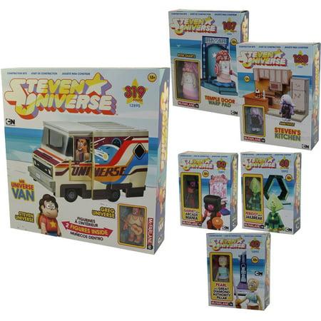 McFarlane Toys Building Sets - Steven Universe - MEGA SET OF 6 (Micro, Small & - Mega Toys