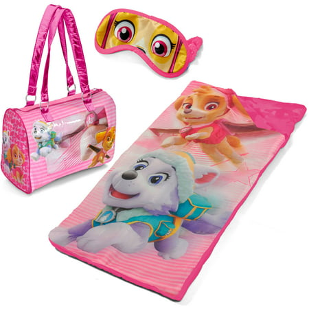 Girls Sleepover Set - Paw Patrol Sleepover Purse Set with Eyemask