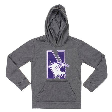 Grey Youth Pullover Sweatshirt (NCAA Youth Northwestern Wildcats Pullover Grey Hoodie)