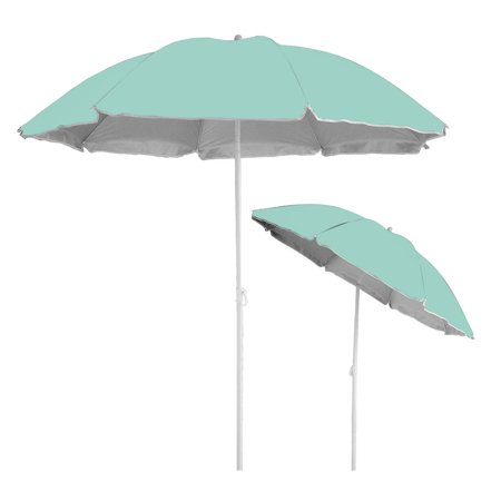 Caribbean Joe 6' Beach Umbrella with UV Protection and Matching