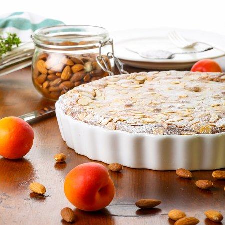 Almond Pear Tart - Canvas Print Baking Apricot Lemon Thyme Tart Frangipane Almonds Stretched Canvas 10 x 14