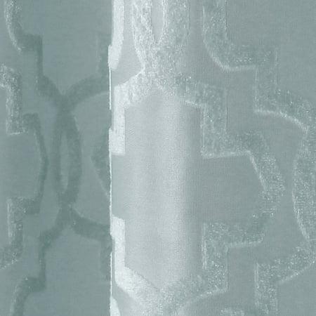 Velvet Drapery - Better Homes & Gardens Sheer Velvet Cross Cut Trellis Window Curtain Panel