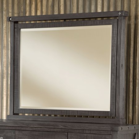 Domusindo Industrial Solid Wood Mirror in Cafe