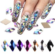 70Pcs FlatBack AB Crystal Rhinestone Gems Pearls For 3D Nail Art Phone DIY Craft