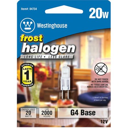 Westinghouse Lighting 20W G4 Dimmable Halogen Edison Capsule Light Bulb