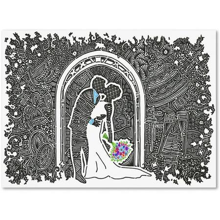 Trademark Fine Art 'Wedding Kiss' Canvas Art by Viz Art Ink