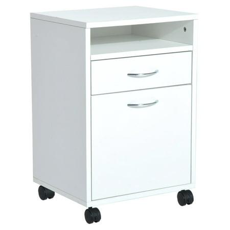 HomCom Mobile Printer Stand/Office Storage (Printer Cabinet Stand)