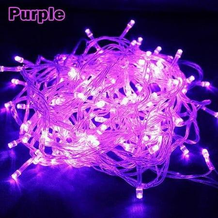 10M 100Leds 110V String Fairy Lights Christmas Light Wedding Party Decoration - Purple String Lights