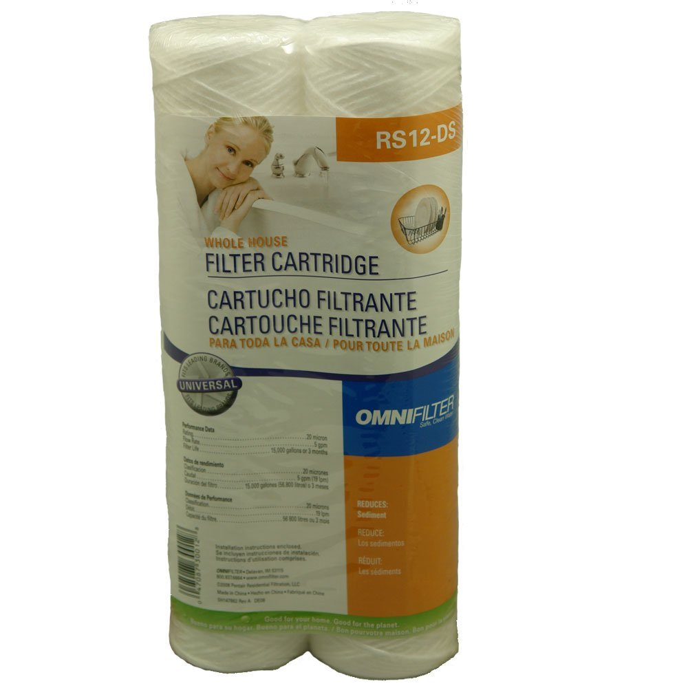 RS12-DS3-05 Standard Water Filter Cartridge 8-Pack, Reduces sediment including sand, silt, rust and scale particles By OMNIFilter