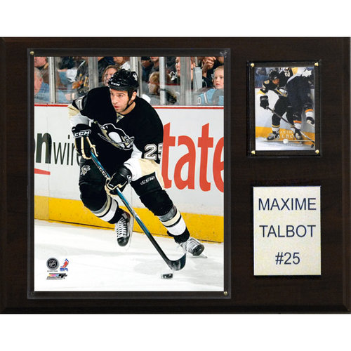 """NHL 12""""x15"""" Maxime Talbot Pittsburgh Penguins Player Plaque"""