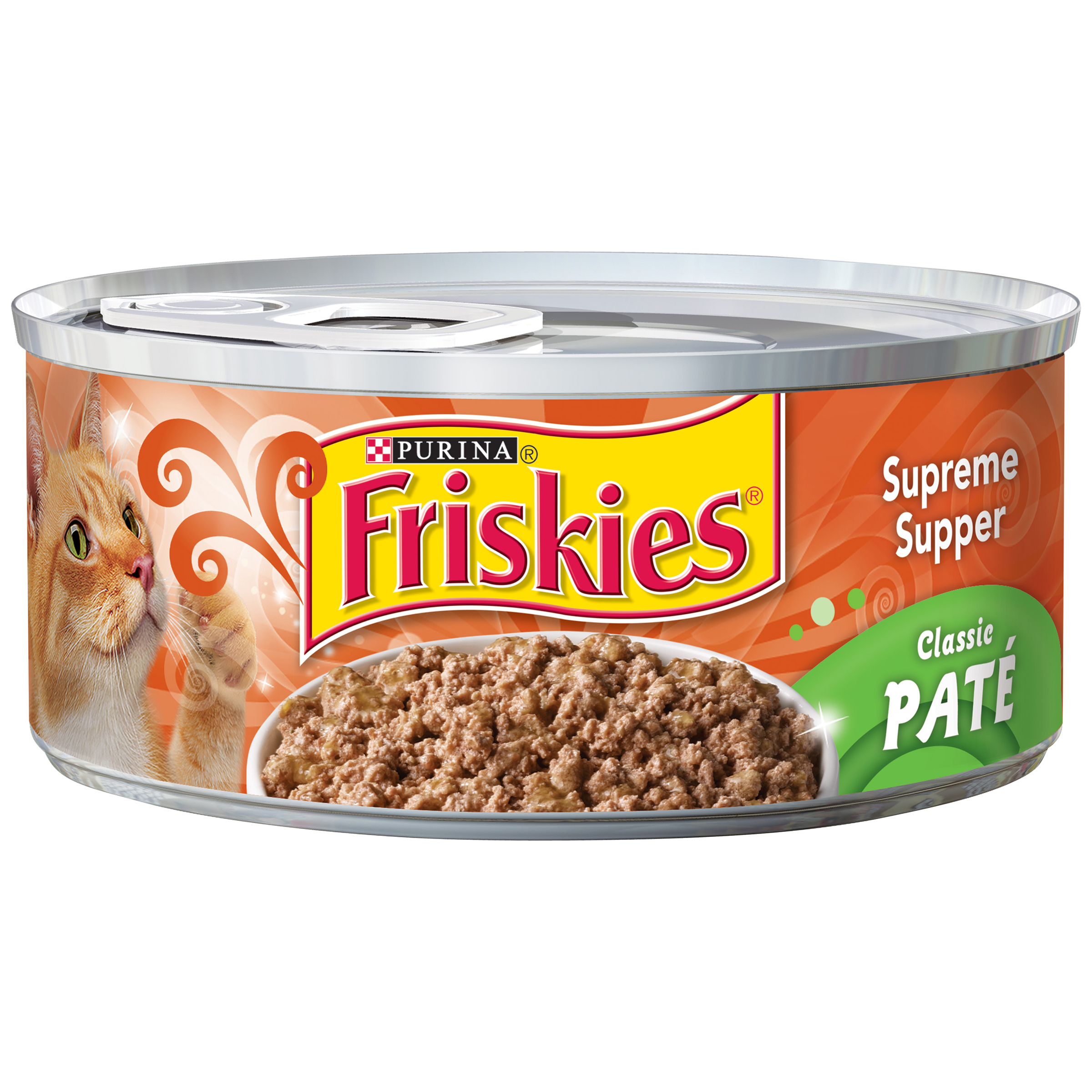 Purina Friskies Classic Pate Supreme Supper Cat Food 5.5 oz. Can