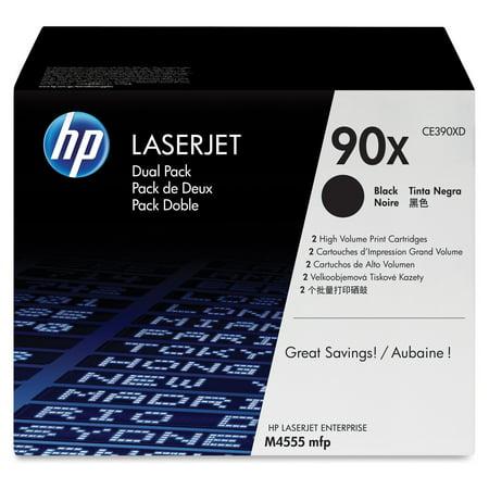HP 90X - 2-pack - High Yield - black - original - LaserJet - toner cartridge (CE390XD)