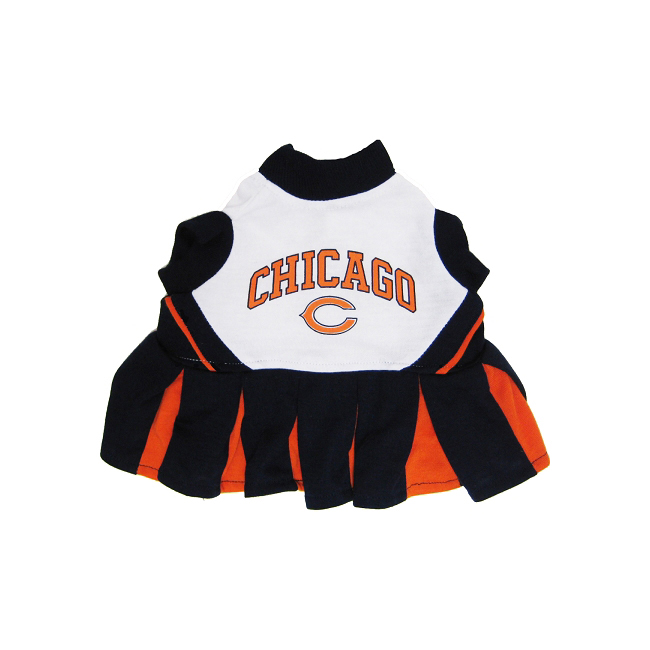 Chicago Bears NFL Dog Cheerleader Outfit - Small