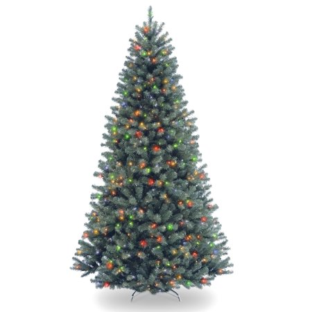 7.5' Pre-Lit North Valley Blue Spruce Artificial Christmas Tree - Multi-Color (Blue Spruce Tree Information)
