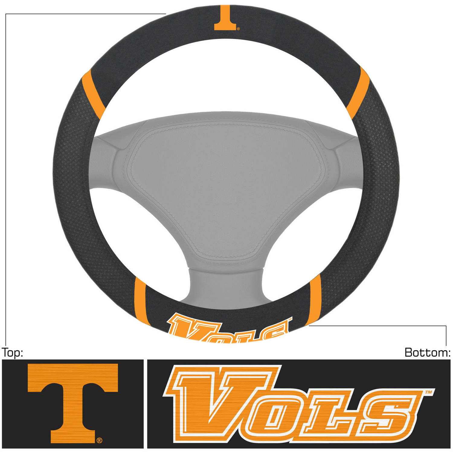 University of Tennessee Steering Wheel Cover