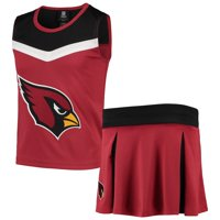 Arizona Cardinals Girls Youth Two-Piece Spirit Cheerleader Set - Cardinal/Black