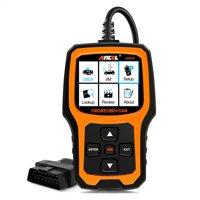 Ancel AD410 OBD2 Car Scanner Check Vehicle Engine Light Code Reader Clear Fault Codes OBDII Automotive Diagnostic Tools, Black & Orange