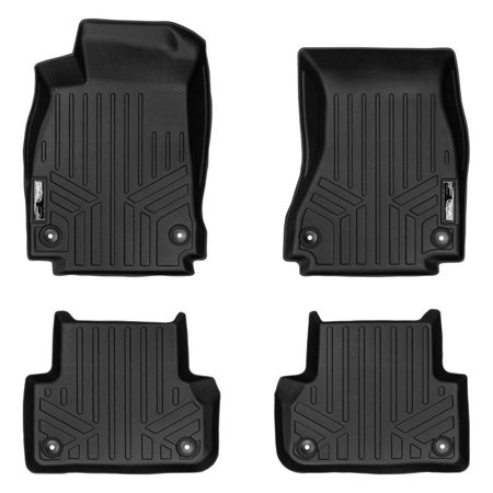 Maxliner 2017-2019 Audi A4 S4 A4 All-Road Quattro Fits All Models Smartliner Floor Mats 2 Row Liner Set Black A0352/B0352
