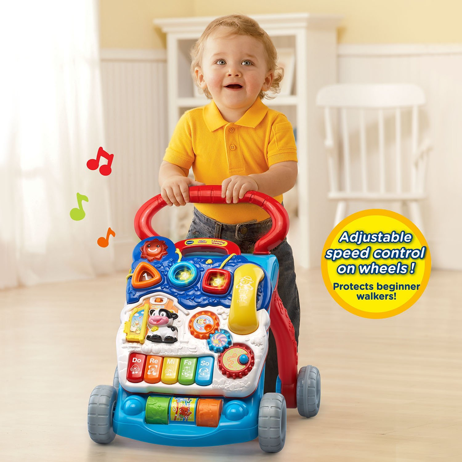 VTech Sit-to-Stand Learning Walker, Interactive learning with Over 70 sing-along songs... by