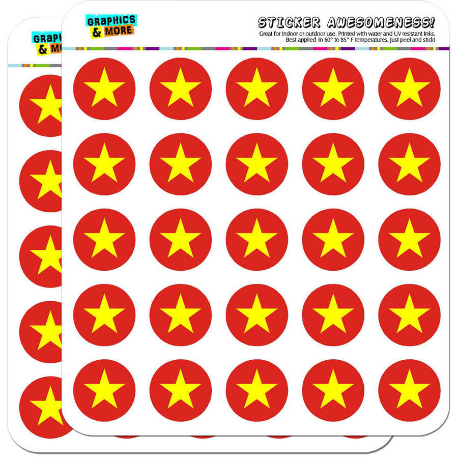 """Vietnam National Country Flag 50 1"""" Planner Calendar Scrapbooking Crafting Stickers"""