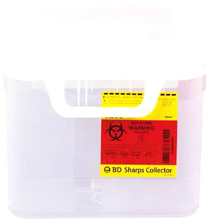 5.4 Quart Next Generation Patient/Exam Room Sharps Collector With Horizontal Entry  1/CS