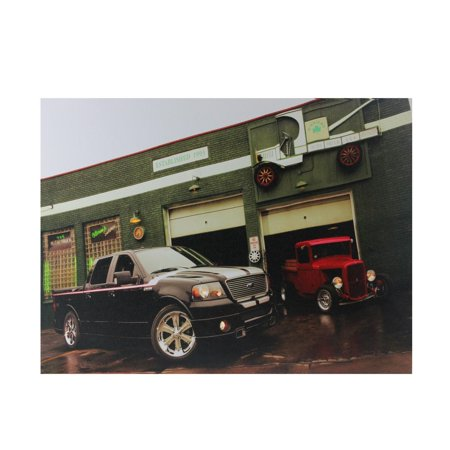 """LED Lighted Ford Trucks at O'Briens Auto Service Canvas Wall Art 15.75"""" x 12"""" - image 2 de 2"""