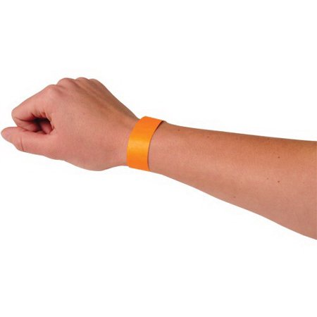 US TOY C18-09 Event Wristbands, Orange - 100 pc](Paper Wristbands For Events)