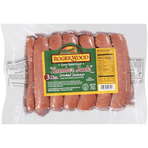 Roger Wood Smoked Sausage, 12ct