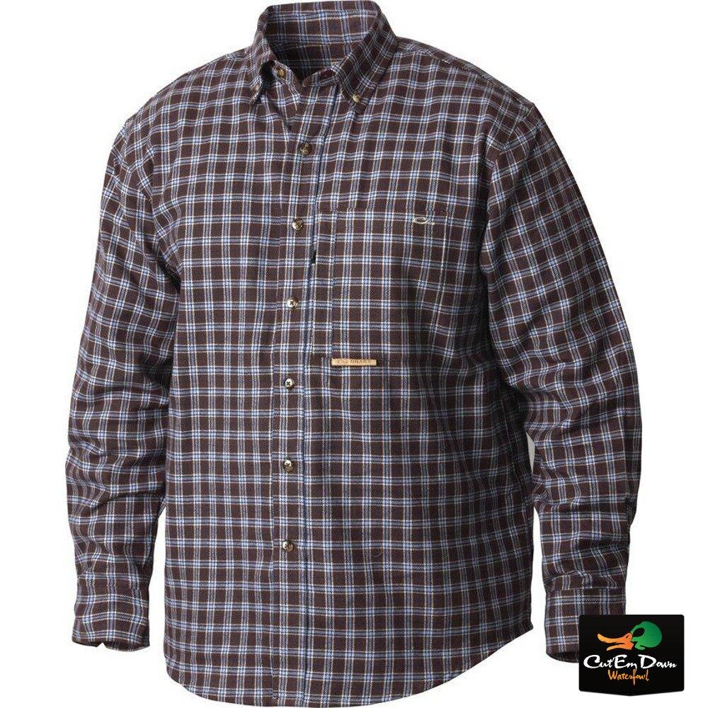 Drake Mens Featherlite Check Long Sleeve Shirt Dark Navy XX-Large