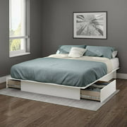 """South Shore Gramercy Full/Queen Platform Bed (54""""/60"""") with Drawers, Multiple Finishes"""