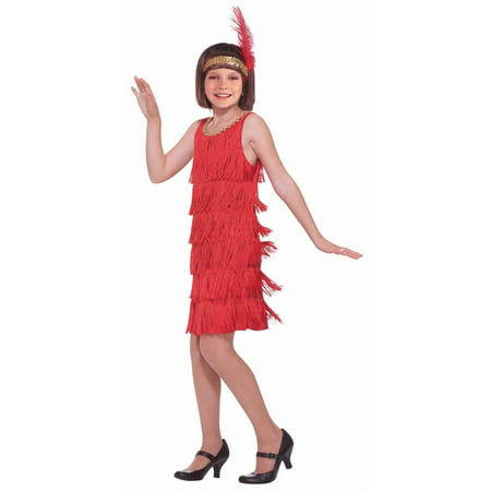 Red Girl Flapper Costume](Halloween Flapper Girl)