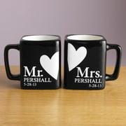 "Personalized ""Mr. and Mrs."" Coffee Mug Set, 8oz - black"
