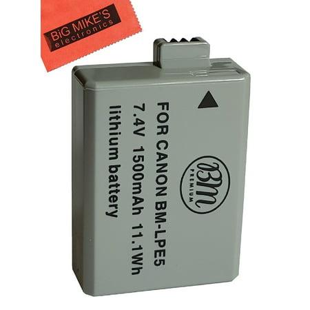 BM Premium LP-E5 Battery for Canon EOS Rebel XS, Rebel T1i, Rebel XSi, 1000D, 500D, 450D, Kiss X3, Kiss X2, Kiss F Digital SLR Camera