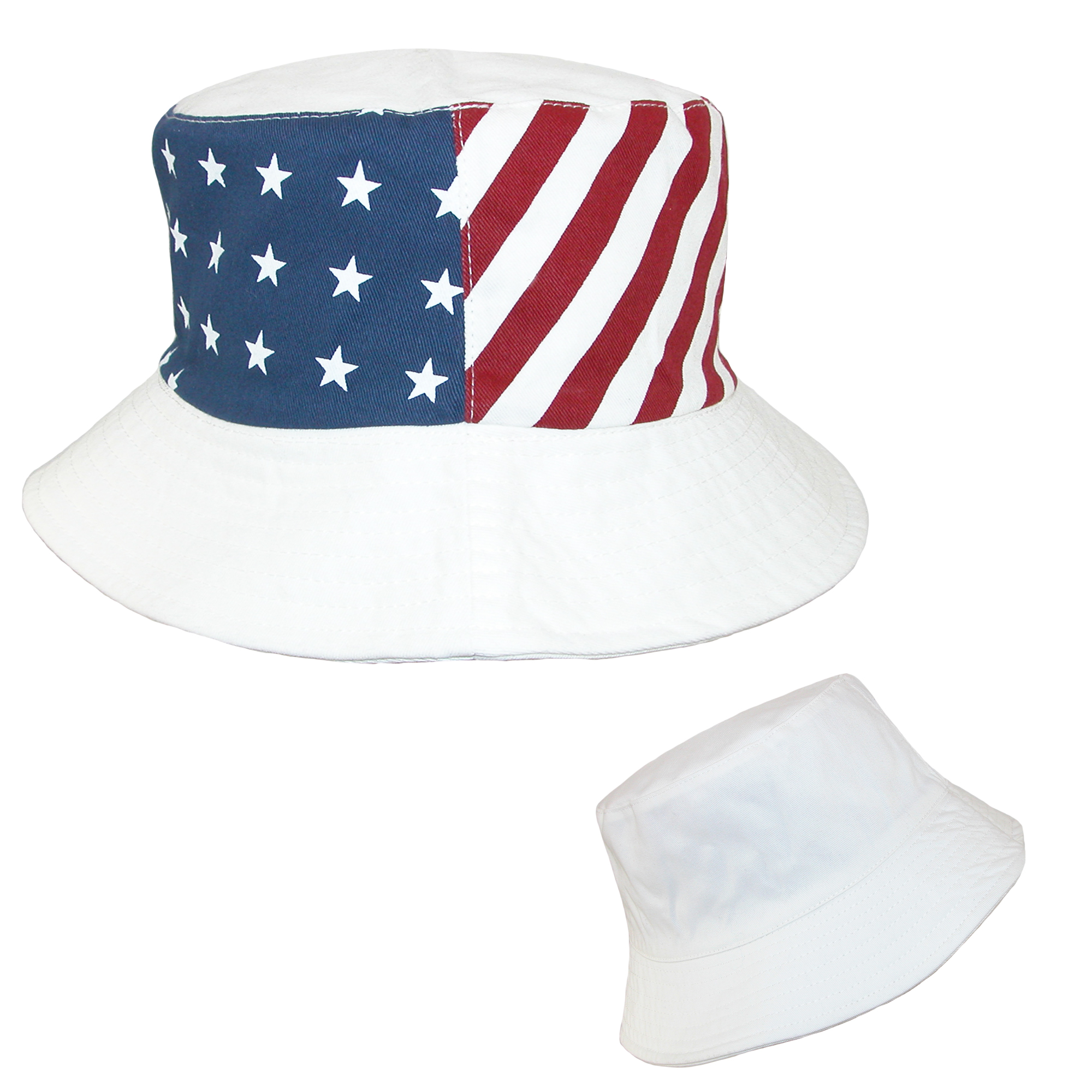 bfb43705dea9e0 Something Special - Cotton American Flag USA Reversible Bucket Hat -  Walmart.com