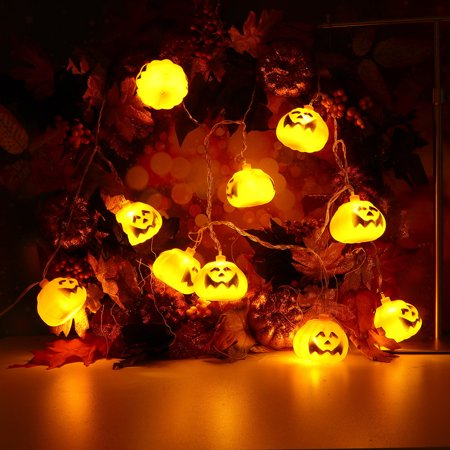Halloween cool Party Ghost Festival Pumpkin LED Battery Lantern String Decoration](Cool Halloween Party Food)
