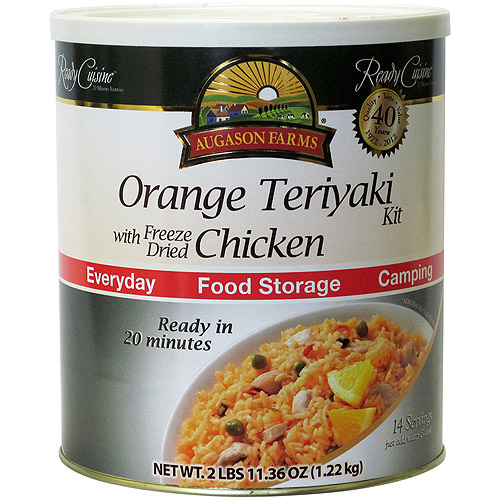 Augason Farms Ready Cuisine Orange Teriyaki with Freeze Dried Chicken Kit, 43.36 oz