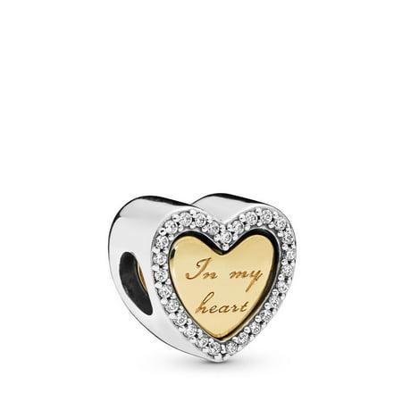 PANDORA In My Heart 18k Gold Plated PANDORA Shine Charm - 767606CZ ()