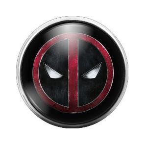 Deadpool- 18MM Glass Dome Candy Snap Charm GD0127 - Snap It Jewelry