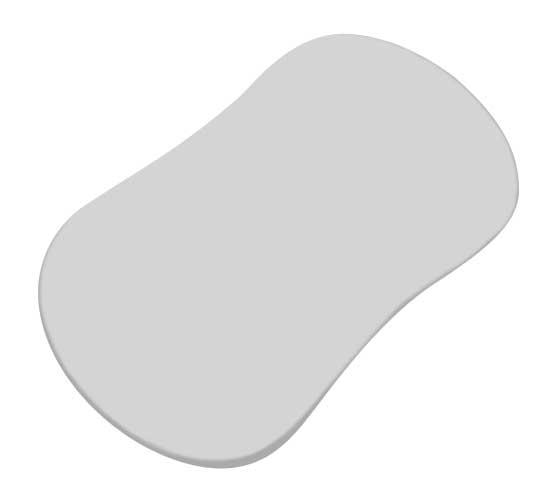SHeetWorld Fitted Bassinet SHeet (Fits Halo Bassinet Swivel Sleeper) Silver Grey Jersey Knit by
